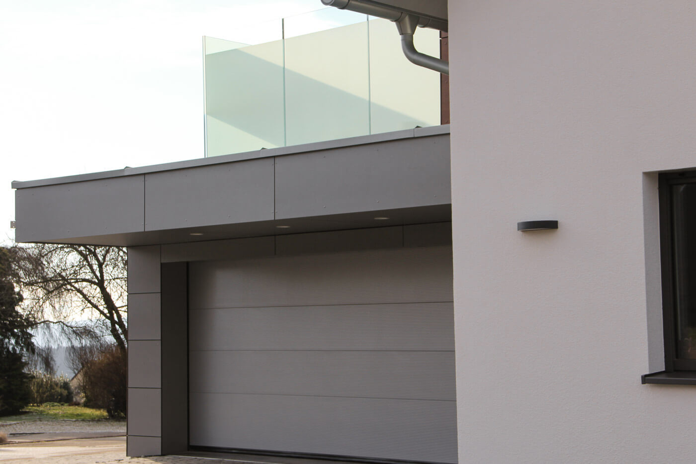Garage mit Dachterrasse