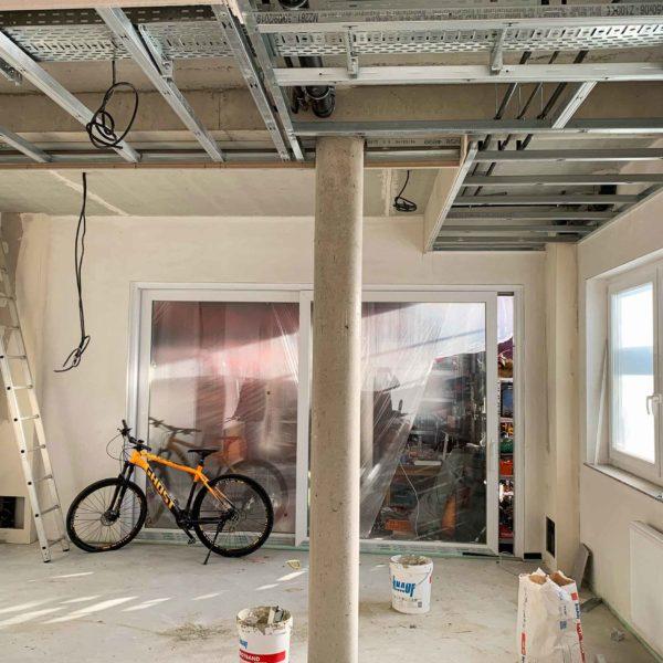 Baustelle während Bauphase